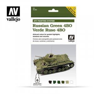 VLJ78403 - Vallejo Type - AFV Sets: Russian Green 4BO (6 pieces) - Acrylic / Water Based