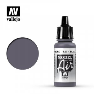 VLJ71073 - Vallejo Type - Model Air: Metallic Black - 17mL Bottle - Acrylic / Water Based