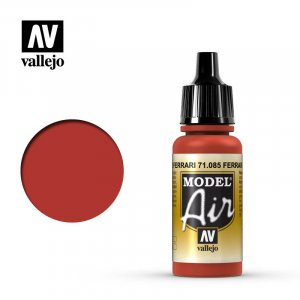 VLJ71085 - Vallejo Type - Model Air: Ferrari Red - 17mL Bottle - Acrylic / Water Based