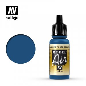 VLJ71088 - Vallejo Type - Model Air: French Blue - 17mL Bottle - Acrylic / Water Based