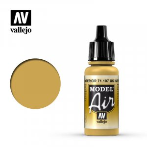 VLJ71107 - Vallejo Type - Model Air: US Interior Yellow - 17mL Bottle - Acrylic / Water Based