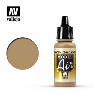 VLJ71027 - Vallejo Type - Model Air: Light Brown - 17mL Bottle - Acrylic / Water Based