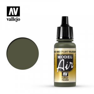 VLJ71017 - Vallejo Type - Model Air: Russian Green - 17mL Bottle - Acrylic / Water Based
