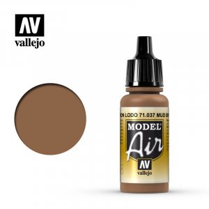 VLJ71037 - Vallejo Type - Model Air: Mud Brown - 17mL Bottle - Acrylic / Water Based