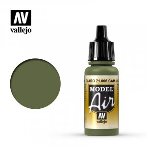 VLJ71006 - Vallejo Type - Model Air: Camouflage Light Green - 17mL Bottle - Acrylic / Water Based