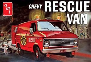 AMT812 - AMT 1/25 CHEVY RESCUE VAN - WHITE