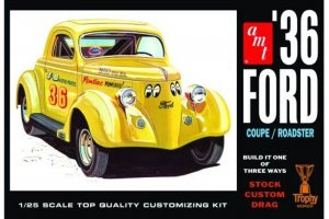 AMT824 - AMT 1/25 1936 FORD COUPE W/NEW PARTS