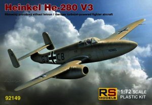 RSM92149 - RS Models 1/72 HEINKEL HE-280 V3 TURBOJET FIGHTER