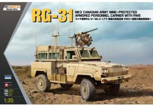 KIN61010 - Kinetic 1/35 RG-31 MK3 Canadian Army Mine-Protected Armored Personnel Carrier with RWS
