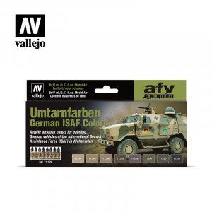 VLJ71159 - Vallejo Type - AFV Sets: Umtarnfarben German ISAF Colors (8 pieces) - Acrylic / Water Based