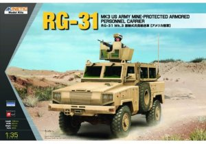 KIN61012 - Kinetic 1/35 RG-31 MK3 US Army Mine-Protected Armored Personnel Carrier