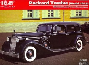 ICM35535 - ICM 1/35 1936 Packard Twelve - WW II Soviet Leader's Car with Passengers