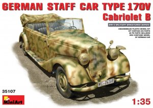 MIA35107 - Miniart 1/35 German Staff Car Type 170V Cabriolet B