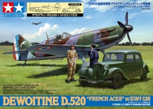 TAM61109 - Tamiya 1/48 D.520 & STAFF CAR 'FRENCH ACES'