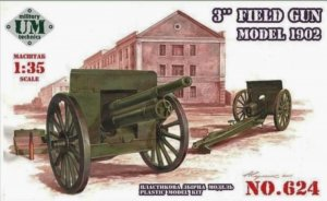 UMT624 - UM Military Technics 1/35 3 Inch Field Gun - Model 1902