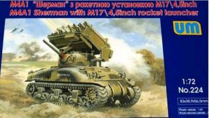 UMM224 - UM Models 1/72 M4A1 Sherman with M17/4.5 inch Rocket Launcher