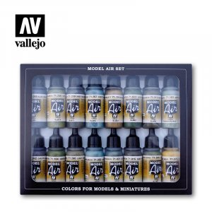 VLJ71193 - Vallejo Type - Air War Sets: RLM Colors (16 pieces) - Acrylic / Water Based