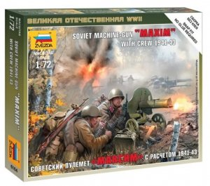 "ZVE6104 - Zvezda 1/72 Soviet Machine-Gun ""Maxim"" with Crew 1941-43 - Snap-Fit"