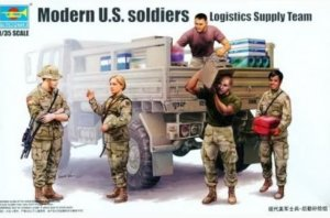 TRP00429 - Trumpeter 1/35 Modern U.S. soldiers Logistics Supply Team