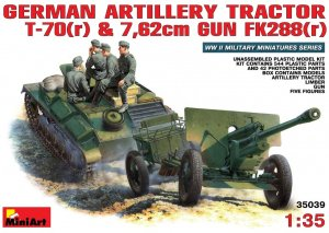 MIA35039 - Miniart 1/35 German Artillery Tractor T-70(r) and 7.62cm Gun FK288(r) with Crew