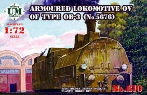 UMT610 - UM Military Technics 1/72 Armoured Locomotive OV of Type OB-3