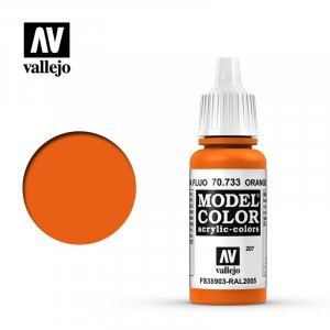 VLJ70733 - Vallejo Type - Model Colour: Fluorescent Orange - 17mL Bottle - Acrylic / Water Based
