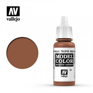 VLJ70818 - Vallejo Type - Model Colour: Red Leather - 17mL Bottle - Acrylic / Water Based