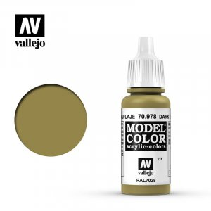 VLJ70978 - Vallejo Type - Model Colour: Dark Yellow - 17mL Bottle - Acrylic / Water Based