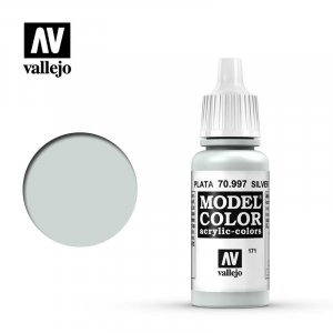 VLJ70997 - Vallejo Type - Model Colour: Silver - 17mL Bottle - Acrylic / Water Based