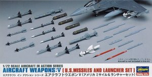 HAS35009 - Hasegawa 1/72 Aircraft Weapons V: U.S. Missiles and Launcher Set