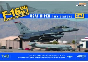 KIN48005 - Kinetic 1/48 F-16DG/DJ Block 40/50 USAF Viper Two Seater ( 2-in-1 )