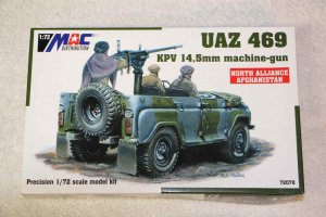 MAC72078 - MAC 1/72 UAZ 469 KPV 14.5mm machine gun