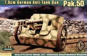 ACE72246 - ACE 1/72 7.5cm German Anti-Tank Gun PaK.50