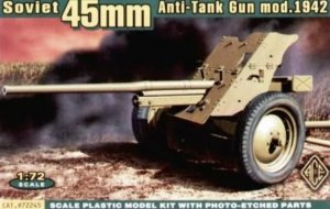 ACE72245 - ACE 1/72 Soviet 45mm Anti-Tank Gun Model 1942