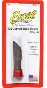 EXC20022 - Excel #22 Curved Edge - Replacement Blades ( Pkg. of 5 )