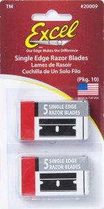 EXC20009 - Excel Single Edge Razor - Replacement Blades 0.009 ( 10 pieces )