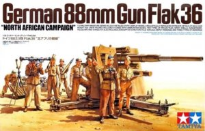 TAM35283 - Tamiya 1/35 GERMAN 88MM GUN FLAK36 NORTH AFRICA