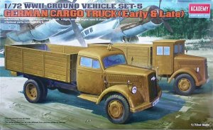 ACA13404 - Academy 1/72 German Cargo Truck (Early & Late) - WWII Ground Vehicle Set-5