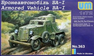 UMM363 - UM Models 1/72 Armored Vehicle BA-1