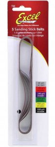 EXC55684 - Excel Sanding Stick Replacement Belts - 600 Grit ( Pkg. of 5 )