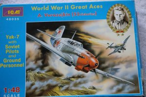 ICM48035 - ICM 1/48 Yak-7 with Soviet Pilots and ground personel