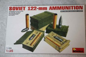 MIA35068 - Miniart 1/35 Soviet 122mm Ammo w/Boxes