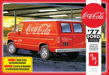 AMT1173 - AMT 1/25 '77 Ford Delivery Van w coke crates