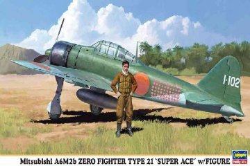 HAS09904 - Hasegawa 1/72 A6m2b ZERO Fighter Type 21
