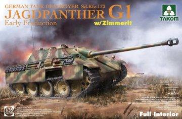TKM2125 - Takom 1/35 Jagdpanther G1 (Sd.Kfz.173) w full interior