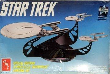 AMT6005 - AMT Star Trek Special Edition 3-piece U.S.S. Enterprise Chrome Set