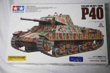 TAM89792 - Tamiya 1/35 P40 Italian Heavy Tank