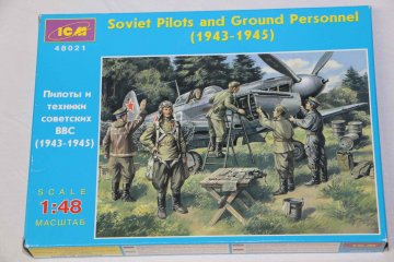 ICM48021 - ICM 1/48 Soviet Pilots and Ground Crew