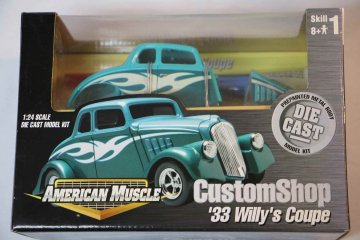 AMM30288 - American Muscle 1/24 33 Willy's Coupe Custom Shop